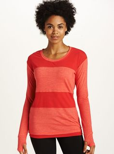Drop Top Mesh. Two of our best fabrics in one yummy long sleeve.