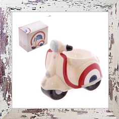 Retro scooter egg cup