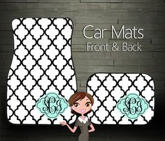 Custom Personalized & Monogrammed Car Floor by BoutiqueMonogram, $39.99 #monogram #monogrammedgift #uniquegift #personalizedgift