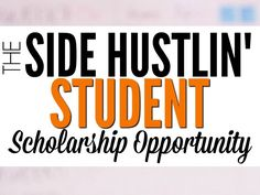 We're proud to offer a $2000 scholarship opportunity to the student who shares the best story about how they are earning money in school.