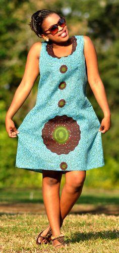 Spring/Summer African print dress