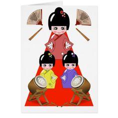 March 3rd is  Hinamatsuri, Girls Day Japanese Doll Festival #TodaysEvent #Gravityx9 #Zazzle -