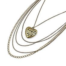 2014 newest Fashion temperament retro sculpture hollow out heart-shaped multilayer pendant Long Necklace&Pendants A216(China (Mainland))