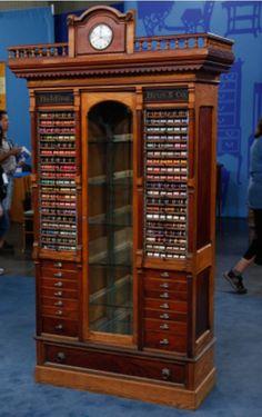 Stunning shop spool cabinet.....I want!!!