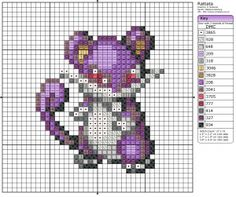 Pokémon – Rattata 20-30 x 30-40, Birdie's Patterns, Gaming, Pokémon, Q - T…
