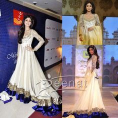 Shilpa-In-Manish-Malhotras-Lehenga-Design... just pinned it but look at the length! I want but I'll proly shorten the length... the top right looks beautiful!!!