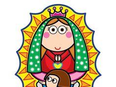 Imágenes de la Virgen de Guadalupe en caricatura para imprimir ...