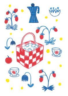 summer berries picnic http://emmijormalainen.com