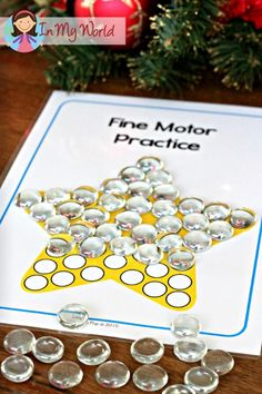 Christmas Nativity Preschool Centers Fine Motor practice mat