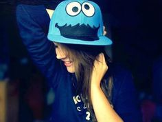 5bb4883d cookie monster hat I want and I love this I really need me and my friend  should get the same.