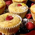 raspberry lemon muffins- around 110 cal each with applesauce substitutions! #raspberry #lemon #low #calories #healthy #muffin #summer #fruit