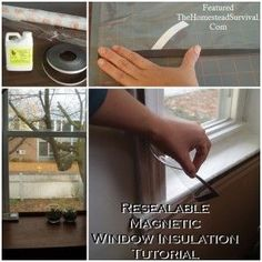Resealable Magnetic Window Insulation Tutorial - The Homestead Survival - Homesteading Home Renovation, Interior Storm Windows, Diy Home Repair, Up House, Town House, Homestead Survival, Home Repairs, Home Improvement Projects, Budgeting
