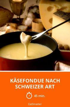 Käsefondue nach Schweizer Art - smarter - Zeit: 45 Min. | eatsmarter.de