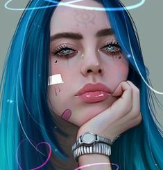 Billie eilish ctto billie em 2019 drawings, anime art e art sketches. Billie Eilish, Digital Art Girl, Digital Portrait, Beautiful Drawings, Cute Drawings, Dibujos Tumblr A Color, Videos Instagram, Girly M, Realistic Drawings
