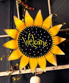 Look at this Sunflower 'Welcome' Garden Stake on #zulily today!