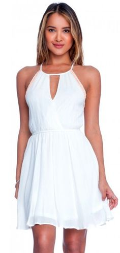 BohoPink - Lush You Are Unwritten Off White Surplice Halter Dress, $54.00 (http://www.bohopink.com/lush-you-are-unwritten-off-white-surplice-halter-dress/)