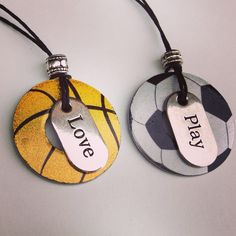 Washer Necklace... Basketball and Soccer