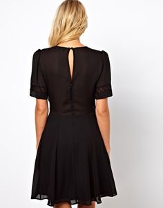ASOS Skater Dress With Lace Band Detail  £38.00