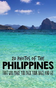 Travel the Philippines 2015: 20 Photos that will make you pack your bags and go - 2015 is the year to visit the Philippines! Book your ticket before everyone does, the Philippines is becoming the next big travel destination in South East Asia. #LuxuryResorts #asiadestinations