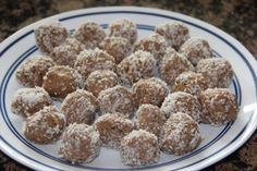 Coconut Chia Seed Protein Balls-- made on 10/11/13 but without coconut. Who knew that stuff goes bad?!