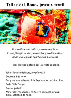 Taller de artistas y creativos!! https://www.facebook.com/festivalexperienciastextiles