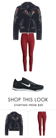 """sylelish"" by lilcrazy2965 ❤ liked on Polyvore featuring True Religion, H&M and NIKE"