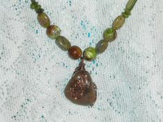 Earthy Green & Brown Necklace by StarryNightTreasures on Etsy, $30.00