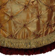 elegant christmas tree skirts 56 gold christmas tree skirt with burgundy trim review - Gold Christmas Tree Skirt