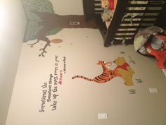 Nursery mural done with a projector.