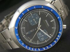 BULL'S HEAD SEIKO CHRONOGRAPH SPEED-TIMER AUTOMATIC JAPAN MEN'S D/D WATCH