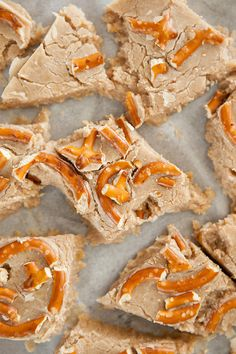 White Chocolate Pumpkin Pretzel Fudge by Brooklyn Farm Girl
