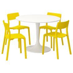 DOCKSTA / JANINGE Stół i 4 krzesła - IKEA