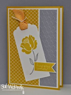 March 2014 Card Class featuring Stampin' Up! Simple Stems