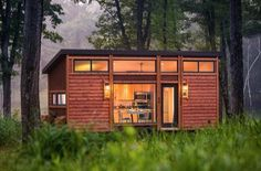 """You remember the Escape cabin right? It was one of the more popular tiny homes we featured, and for good reason. It has a near perfect layout that's both luxurious and rustic. It truly combines both style and substance in one turnkey package. However, at 400-square-feet, it wasn't exactly """"tiny"""" and you couldn't easily tow it behind your pickup. Well Escape Homesjust released with ..."""
