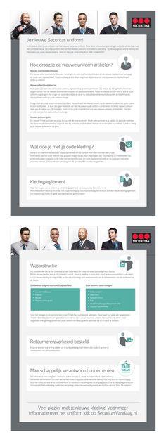 2012 - Design van een flyer die gebruikt wordt in de communicatie over de nieuwe uniformen van beveiligingsbedrijf Securitas.