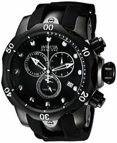 Looking for Invicta Men's 6051 Venom Reserve Black Stainless Steel Watch Polyurethane Band ? Check out our picks for the Invicta Men's 6051 Venom Reserve Black Stainless Steel Watch Polyurethane Band from the popular stores - all in one. Sport Watches, Cool Watches, Watches For Men, Wrist Watches, Men's Watches, Black Stainless Steel, Stainless Steel Watch, Piercings, Rubber Watches