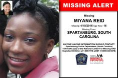 Missing Child, Missing Persons, Have You Seen, Did You Know, Where Are You Now, Looking For Someone, South Carolina, Police, Facts