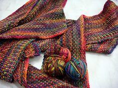 Will's Wools: Koigu Linnen steek Sjaal / Linen Stitch Scarf