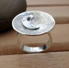 The New Moon Ring by SelinofosArt on Etsy, €50.00 Challenge Your Creativity https://www.facebook.com/groups/1426448577629600/