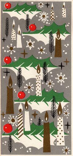 Christmas Print   Merry & Bright   Mid-Century Modern Graphic Design