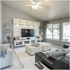 Home Remodeling Living Room Willa Arlo Interiors Welford White Shag Area Rug Living Room Decor Cozy, Living Room Decor Apartment, Home And Living, Apartment Living, Living Room Designs, Apartment Living Room, Living Decor, Living Room Grey, Room Design