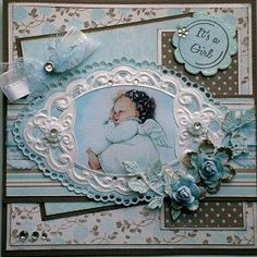 Vandaag heb ik 2 kaarten om te laten zien, allebei gemaakt met het mooie papier van Maja Design.  Een babykaartje waar ik de mooie ovale ma... 75th Birthday Parties, Baby Barn, Alphabet Cards, Baby Mine, Baby Christening, Square Card, Cricut Cards, 3d Cards, Baby Shower Cards