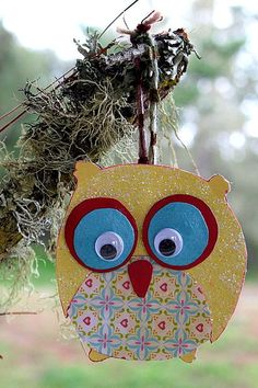 Handmade Owl Christmas Ornament