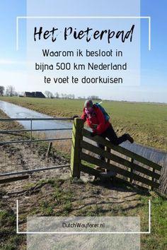 Het Pieterpad, een lange afstandswandeling van bijna 500 km van het noordelijkste naar het zuidelijkste puntje van Nederland. Een gave ervaring en mooie prestatie!