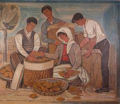 Anastasios Alevizos aka Tassos (born in Lefkochora - died in Athens , distingouished Greek engraver. Greek Paintings, Ancient Greek City, Greek Art, 10 Picture, Still Life Art, Color Of Life, Conceptual Art, Art World, Printmaking