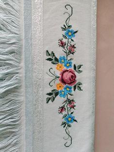 Cross Stitch Flowers, Needlework, Embroidery, Asd, Crochet, Towels, Cross Stitch, Kitchen, Cute Cross Stitch