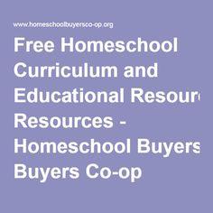 Free Homeschool Curriculum and Educational Resources - Homeschool Buyers Co-op