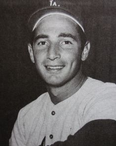 """Sanford """"Sandy"""" Koufax is a former American Major League Baseball left-handed pitcher. He pitched 12 seasons for the Brooklyn/Los Angeles Dodgers, from 1955 to 1966. Koufax, at age 36 in 1972, became the youngest player ever elected to the Baseball Hall of Fame.[1]"""
