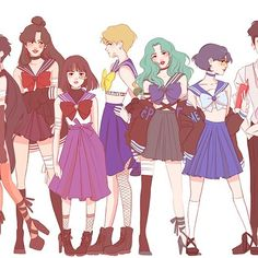 Miss Lumpalinda drawings — ✨Fighting evil by moonlight, winning love by. Sailor Uranus, Sailor Mars, Sailor Neptune, Arte Sailor Moon, Sailor Moon Fan Art, Sailor Moon Crystal, Sailor Scouts, Manga Anime, Character Art
