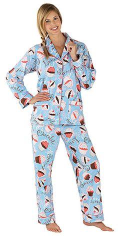 NICK & NORA Cherry Fruit Pie Babydoll Nightgown Pajamas L ...